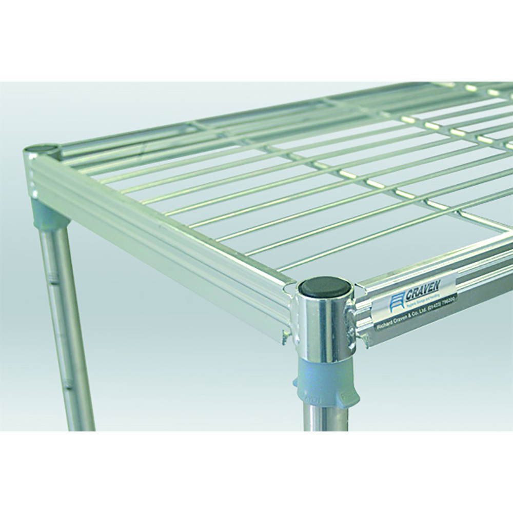 Stainless Steel Wire Shelving Bay - Craven Solutions